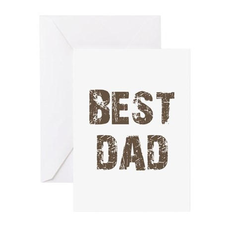 Best Dad Father's Day Brown Greeting Cards (Pk of