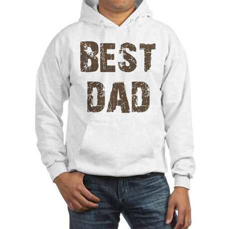 Best Dad Father's Day Brown Hooded Sweatshirt