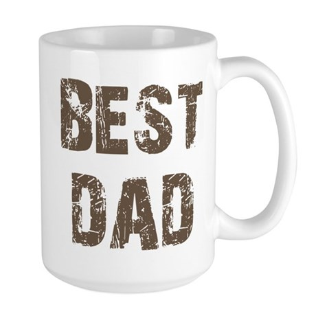 Best Dad Father's Day Brown Large Mug