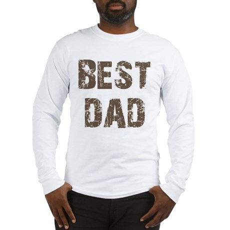 Best Dad Father's Day Brown Long Sleeve T-Shirt