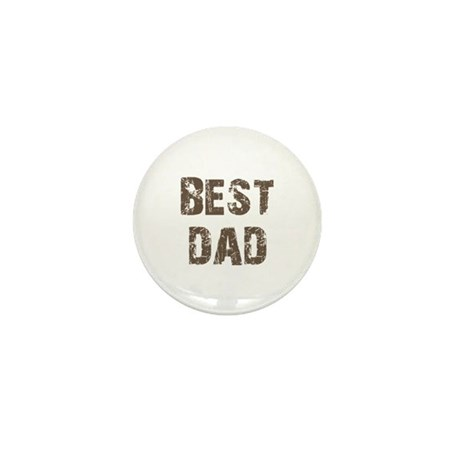 Best Dad Father's Day Brown Mini Button