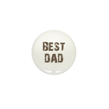 Best Dad Father's Day Brown Mini Button (10 pack)