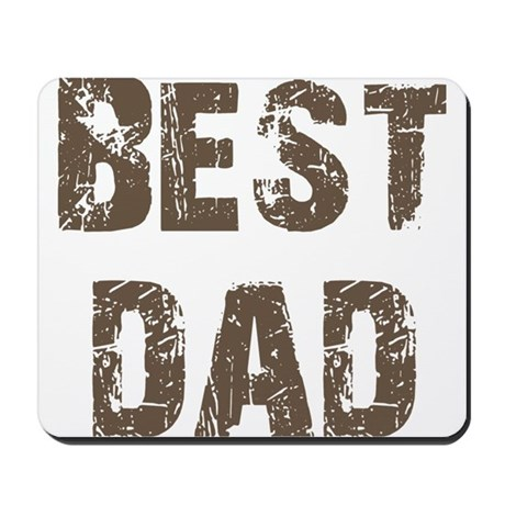 Best Dad Father's Day Brown Mousepad