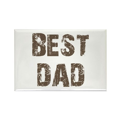 Best Dad Father's Day Brown Rectangle Magnet (10 p