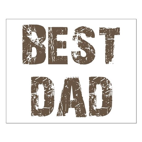 Best Dad Father's Day Brown Small Poster