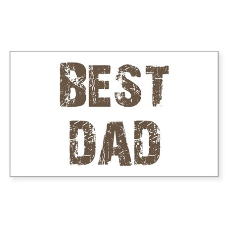 Best Dad Father's Day Brown Rectangle Sticker