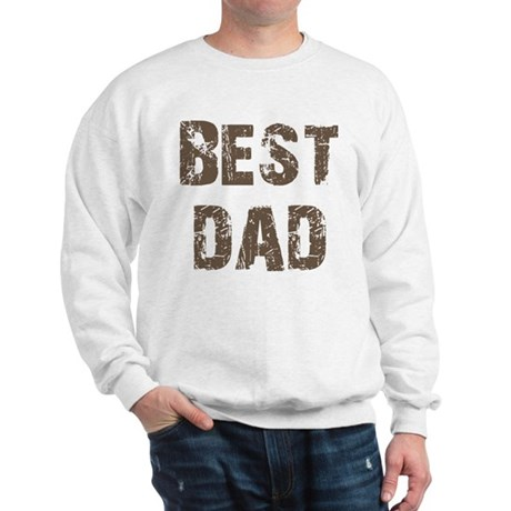 Best Dad Father's Day Brown Sweatshirt