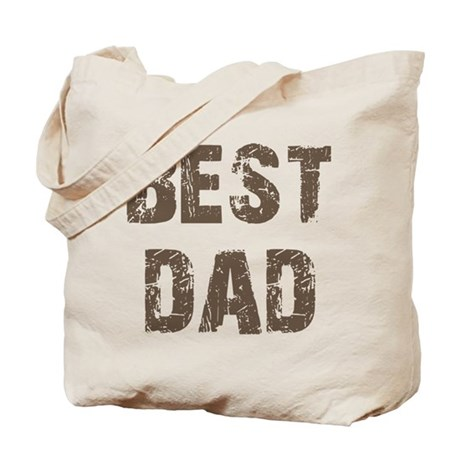Best Dad Father's Day Brown Tote Bag