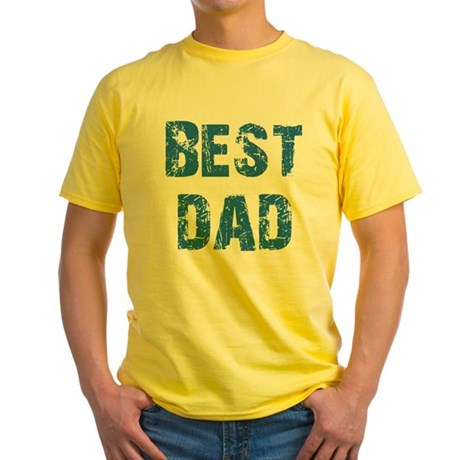 Father's Day Best Dad Yellow T-Shirt