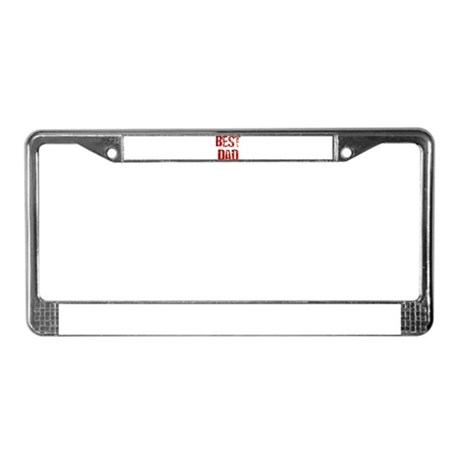 Father's Day Best Dad License Plate Frame