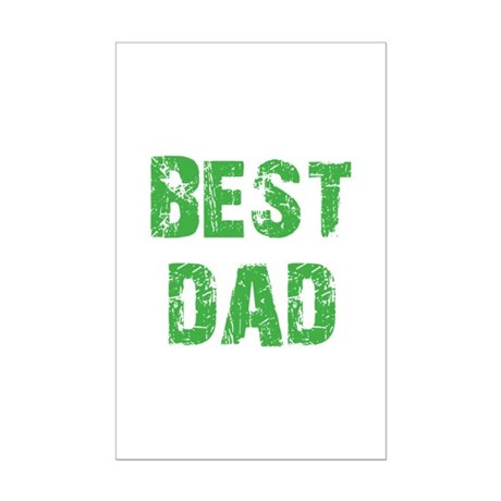 Father's Day Best Dad Mini Poster Print