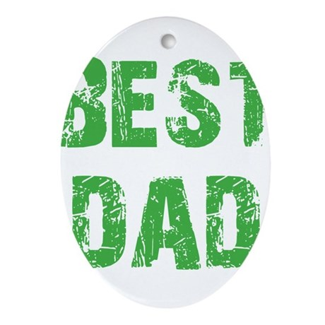 Father's Day Best Dad Oval Ornament