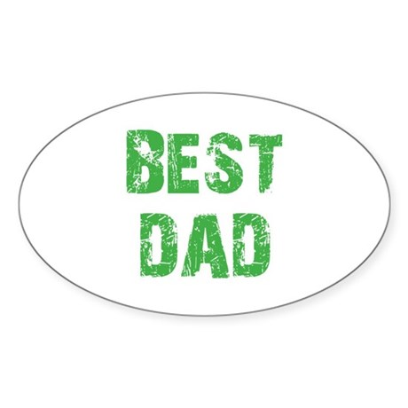 Father's Day Best Dad Oval Sticker