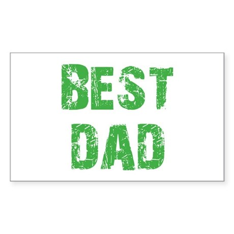 Father's Day Best Dad Rectangle Sticker 10 pk)
