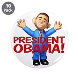 "President Obama 3.5"" Button (10 pack)"