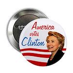 America votes Clinton Activist Pack Buttons