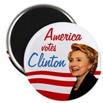 America Votes Clinton Magnet