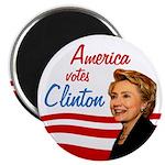 America Votes Clinton Magnet