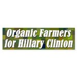 Organic Farmers for Hillary Clinton sticker