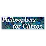 Philosophers for Clinton bumper sticker
