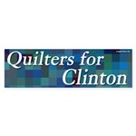 Quilters for Clinton bumper sticker