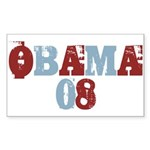 OBAMA 08 Rectangle Sticker