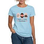 Peace Love Handbags Purse Women's Light T-Shirt