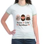 Peace Love Handbags Purse Jr. Ringer T-Shirt