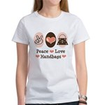 Peace Love Handbags Purse Women's T-Shirt
