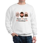 Peace Love Handbags Purse Sweatshirt