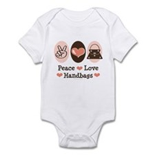 Peace Love Handbags Purse Infant Bodysuit