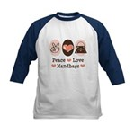 Peace Love Handbags Purse Kids Baseball Jersey