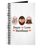 Peace Love Handbags Purse Journal