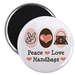 Peace Love Handbags Purse Magnet