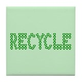 Tile Coaster Recycle symbol theme