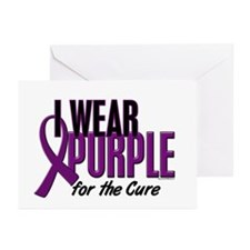 I Wear Purple For The Cure 10 Greeting Cards (Pk o