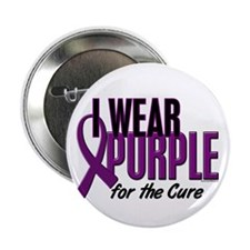 "I Wear Purple For The Cure 10 2.25"" Button (10 pac"