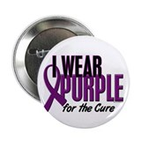 "I Wear Purple For The Cure 10 2.25"" Button"