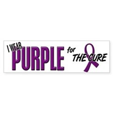 I Wear Purple For The Cure 10 Bumper Bumper Sticker