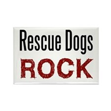 Rescue Dogs Rock Rectangle Magnet
