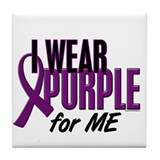 I Wear Purple For ME 10 Tile Coaster