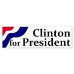Clinton for President bumper sticker