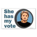 She Has My Vote Bumper Sticker