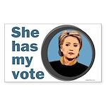 She Has My Vote Bumper Sticker