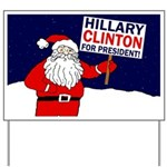 Santa for Hillary Clinton Yard Sign