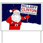 Santa for Hillary Clinton Yard Sign