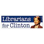 Librarians for Clinton bumper sticker