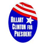 Hillary Clinton 2012 oval ornament