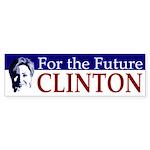 For the Future Clinton bumper sticker