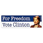 For Freedom Vote Clinton bumper sticker